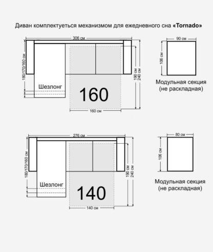 Размер дивана Франклин
